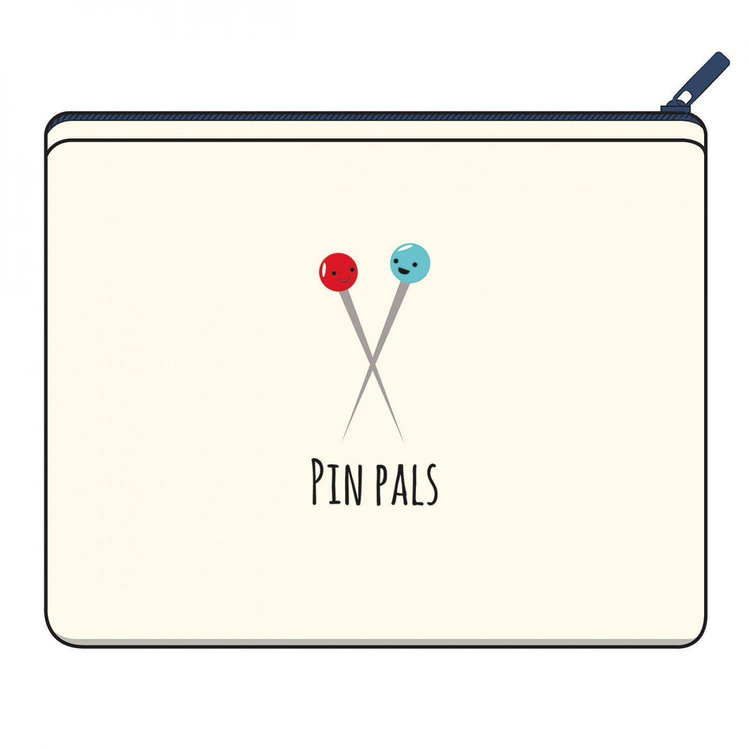 Canvas Zipper Bag - Pin Pals