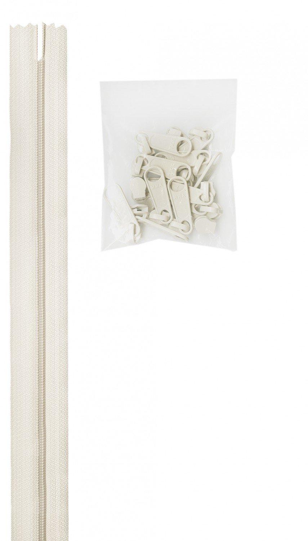 Annie's Handbag Zipper - White