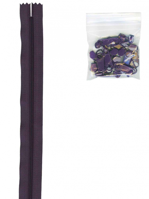 Annie's Handbag Zipper - Eggplant