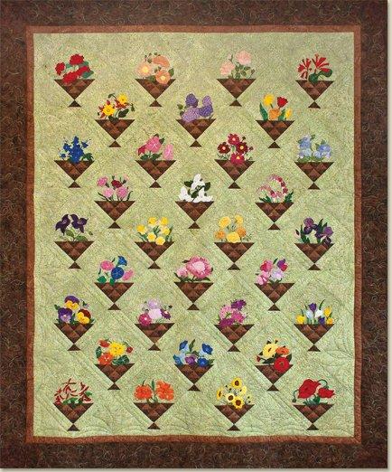 Ruby's Flower Basket Quilt Pattern by McKim Studios