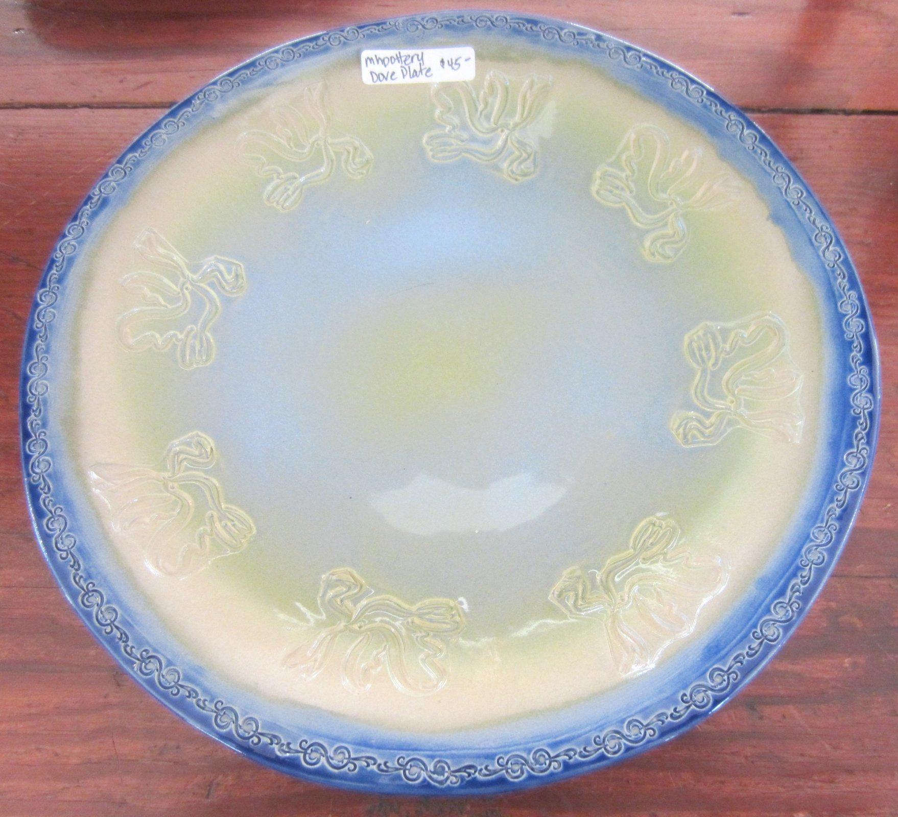 Dove Plate Blue and Cream