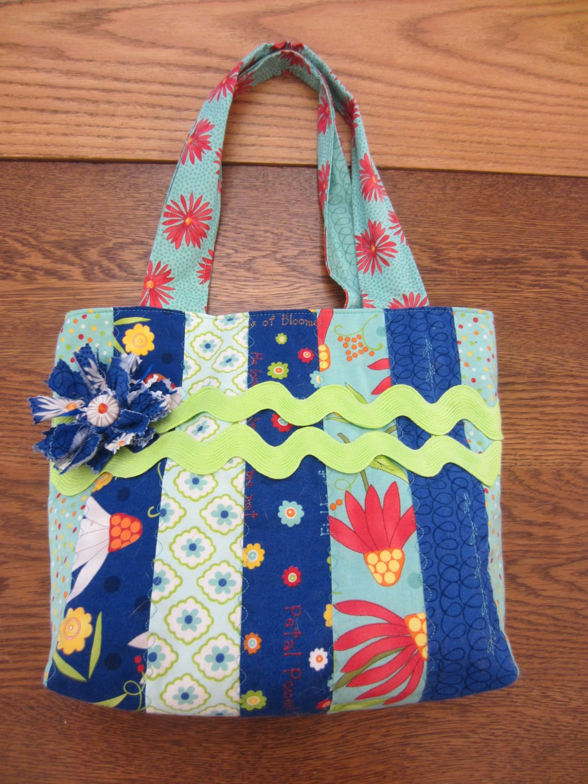 Blue Jelly Roll Bag