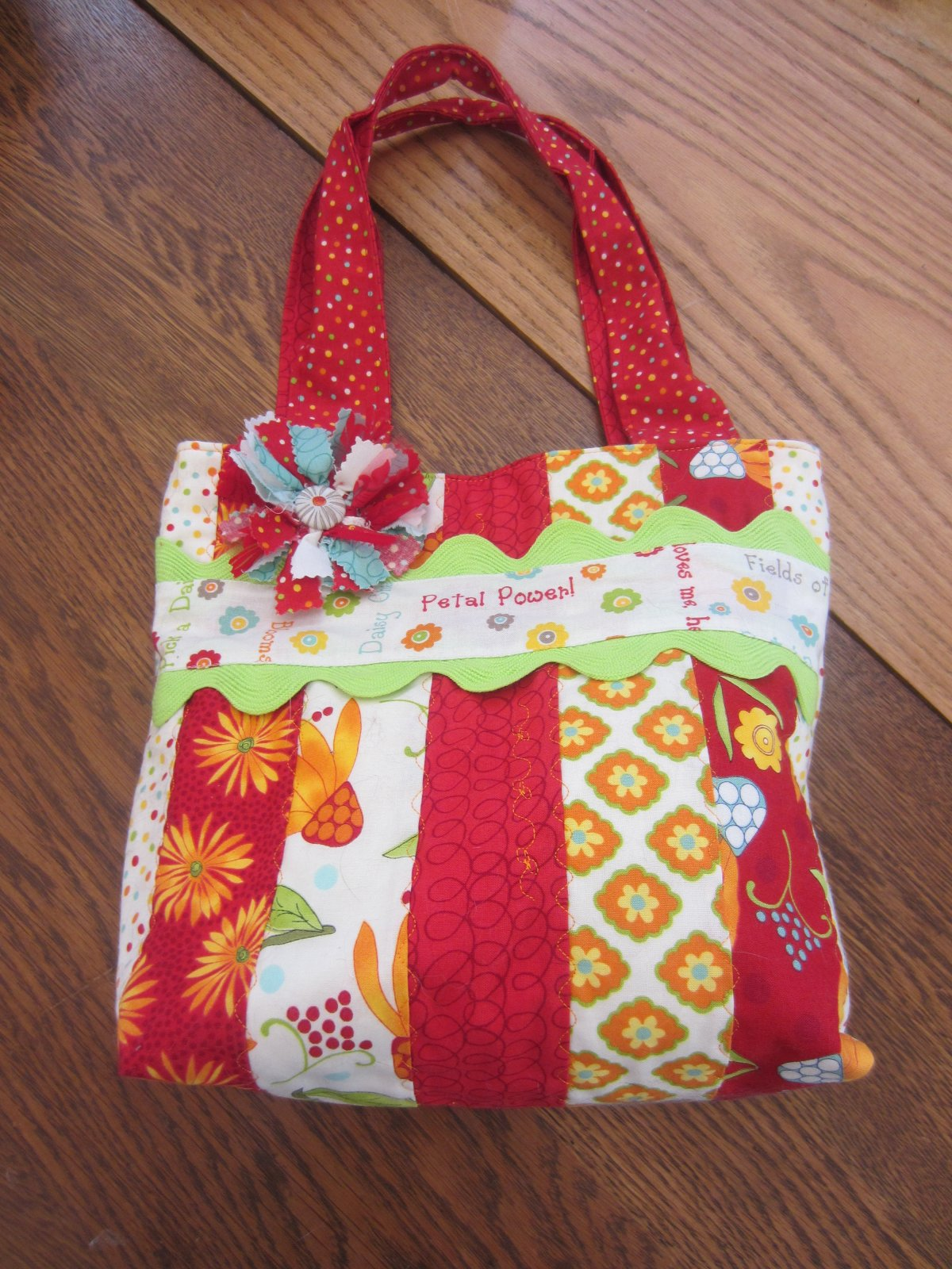 Red Jelly Roll Bag