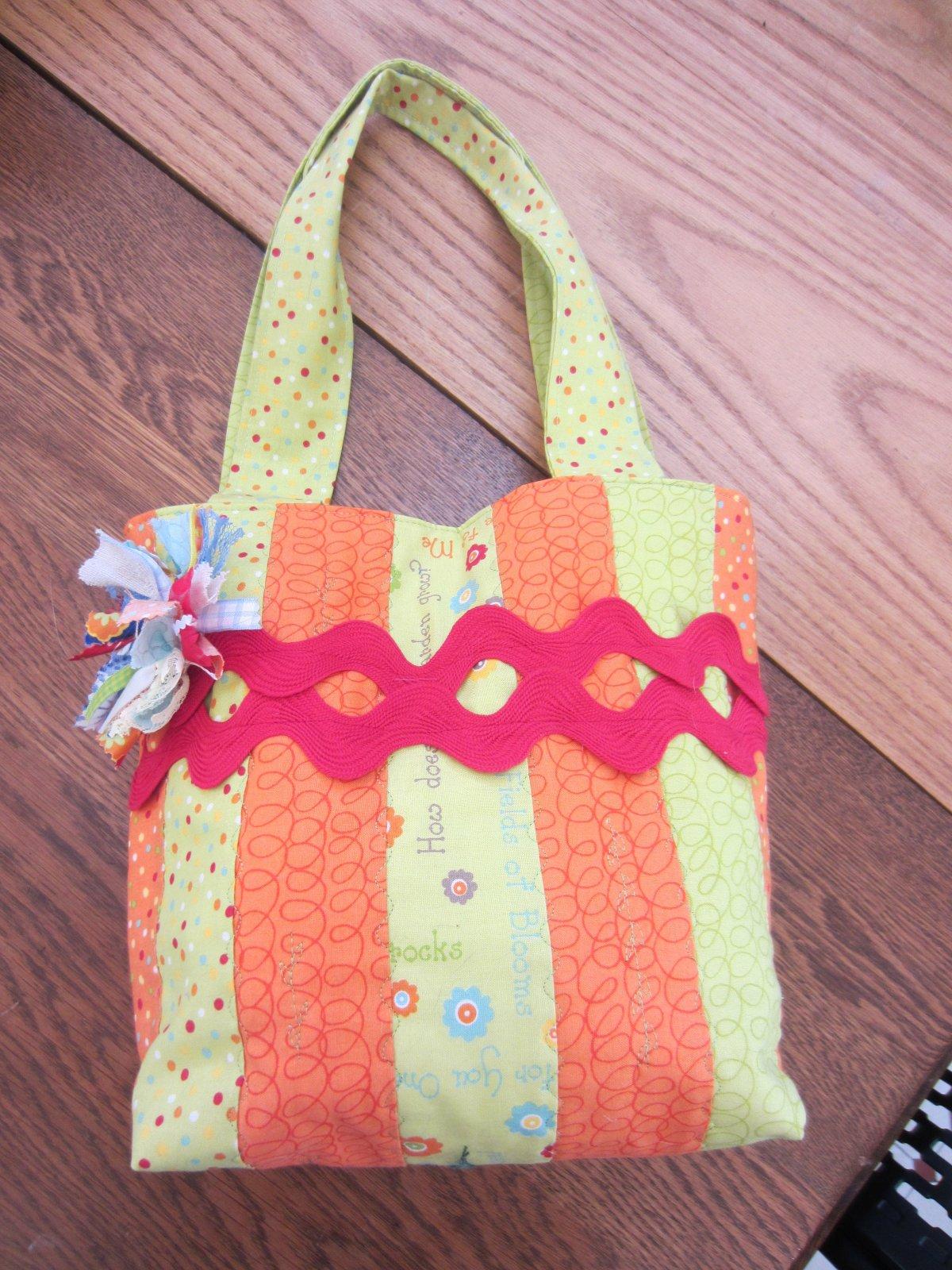 Orange Jelly Roll Bag