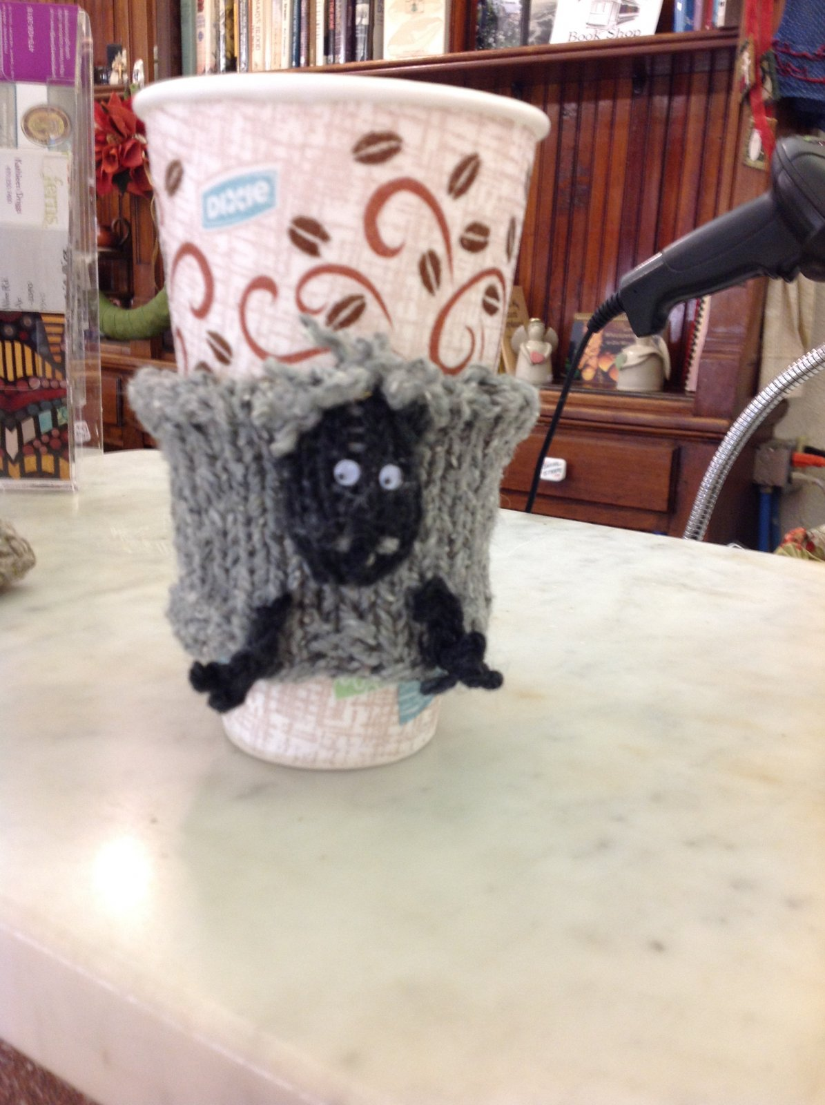Sheep Coffee Cozy - Made to order