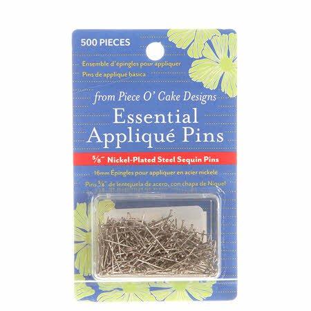 825 Pieces Sullivans Nickel Applique and Sequin Pins Size 8
