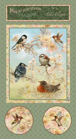 Garden Melodies Songbird Panel