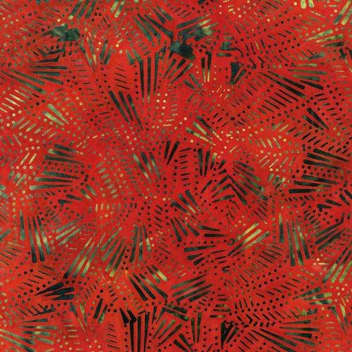 Malam Batiks Fireworks Red