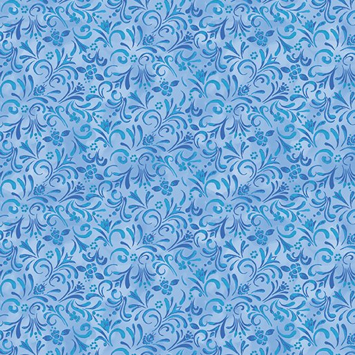 Painterly Swirl Medium Blue Cat-I-tude