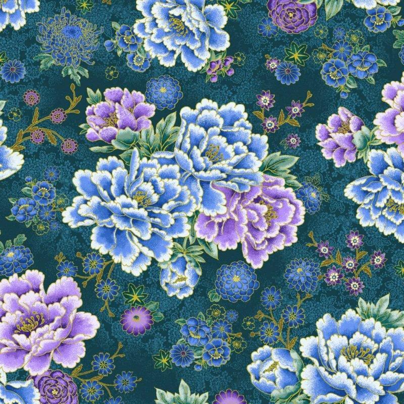 Asian Garden Master Floral w/ Metallic