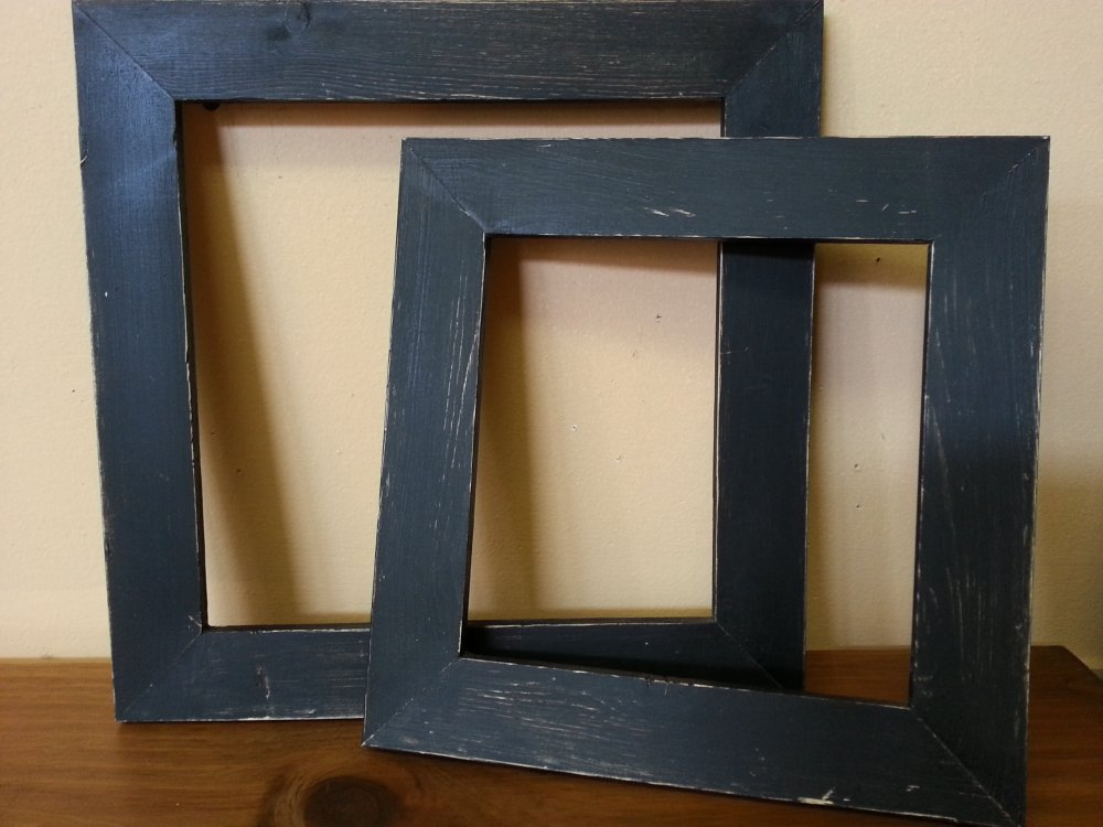 Distressed Black Painted Frame  12 1/2