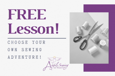 Angels Sewing offers FREE lessons with every machine purchase