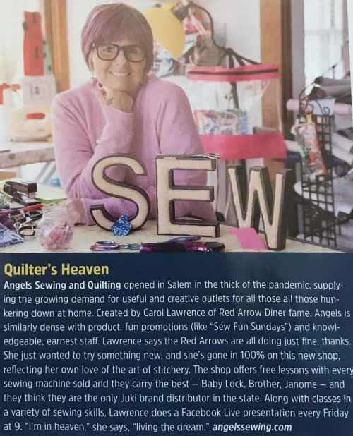 Angels Sewing featured in July 2021 New Hampshire Magazine