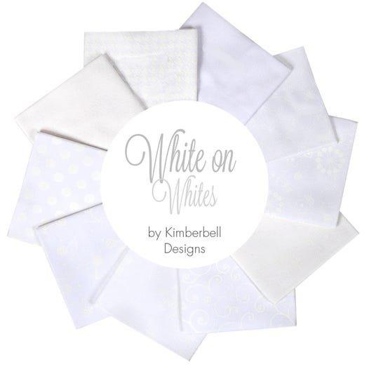 Kimberbell Fat Quarter Basics White on White