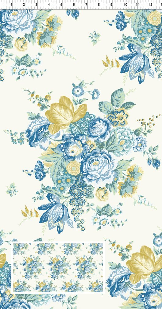 Romance Large Bouquet Blue/Yellow