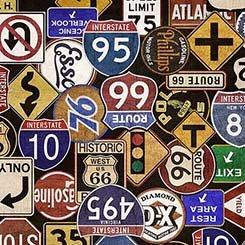 Motorin' - Road Signs - Black