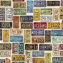 Motorin' - License Plates - Eggshell