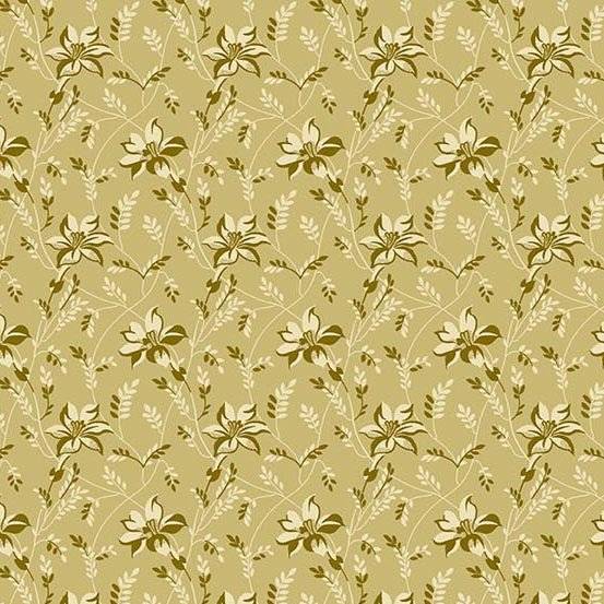 Sequoia 8753-N Granite Buds and Vines by Laundry Basket Quilts for Andover Fabrics