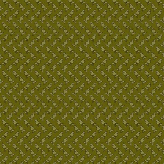 Sequoia 8757-G Forest Green Tulips by Laundry Basket Quilts for Andover Fabrics