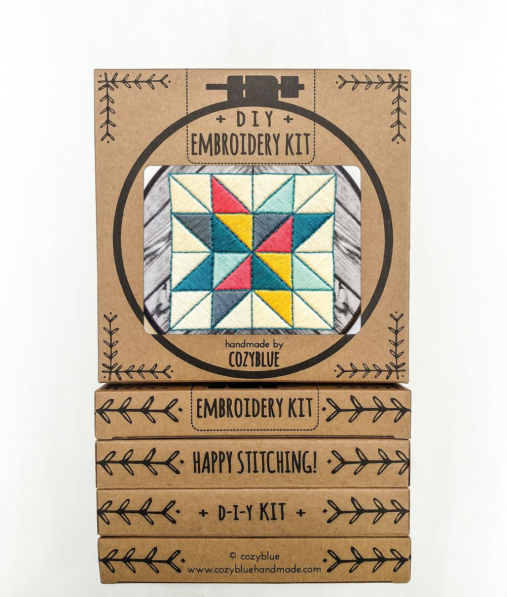 Barn Quilt Embroidery Kit