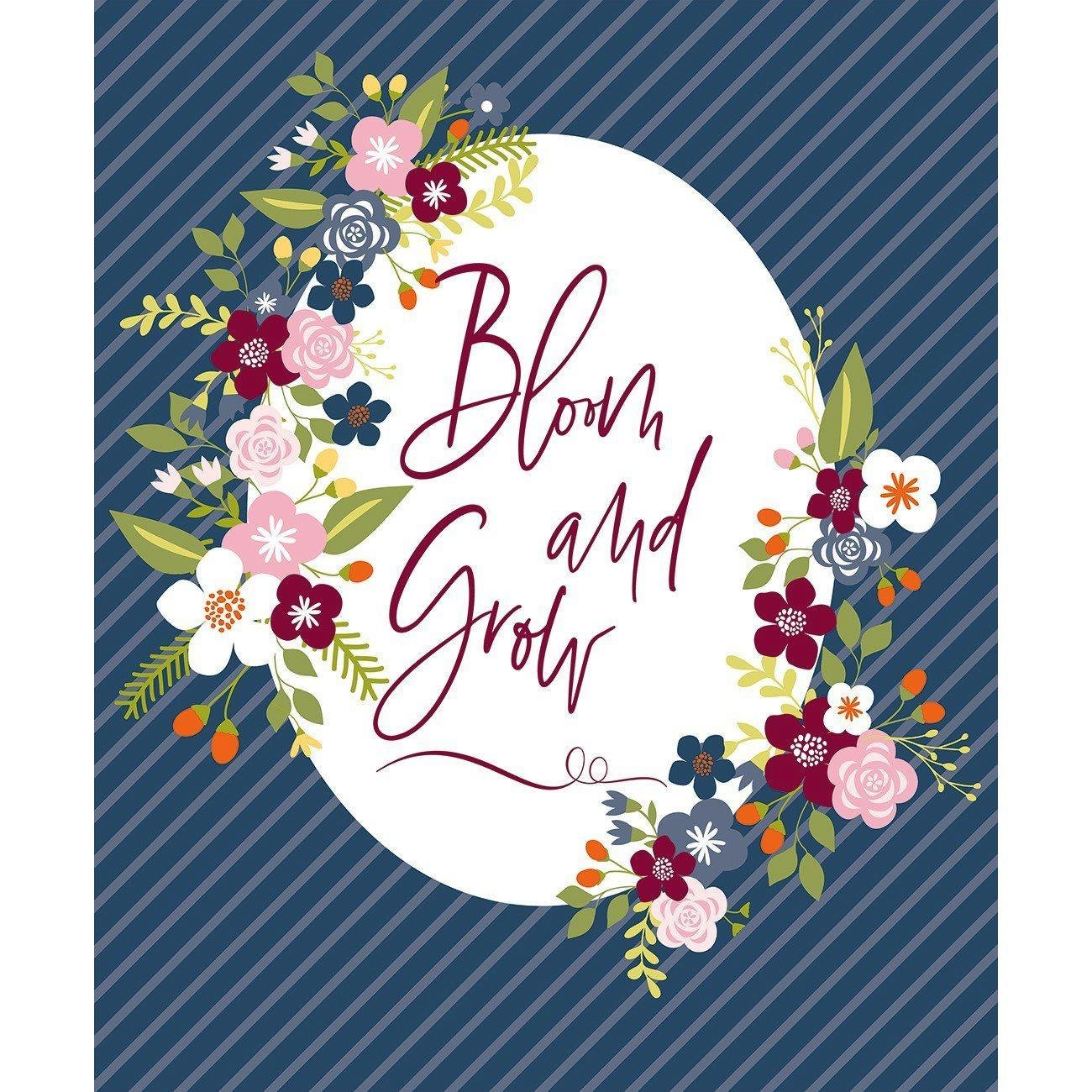 Bloom and Grow Panel Navy