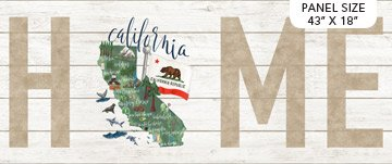 MY HOME STATE CALIFORNIA WHITE MULTI 18x44