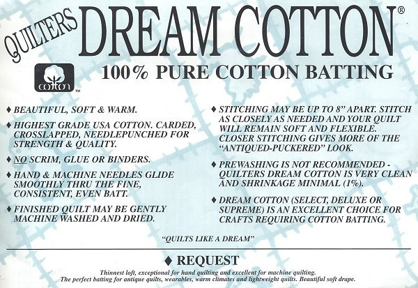 Quilters Dream Cotton Request Double 93x96