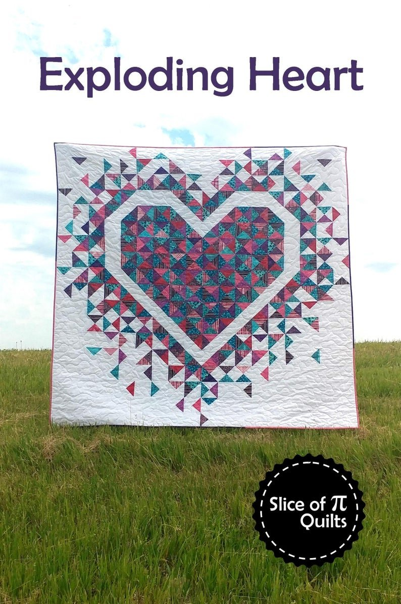 Exploding Hearts Quilt