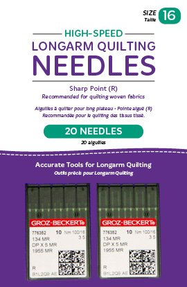 High-Speed Longarm Needles – Two Packages of 10 (Crank 100/16 134MR-3.5)