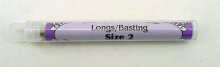 Long Basting Needles Size 2 Foxglove
