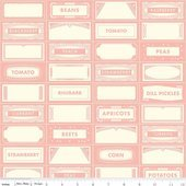 Farm Girl Canning Labels Pink