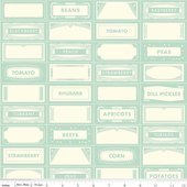 Farm Girl Canning Labels Teal