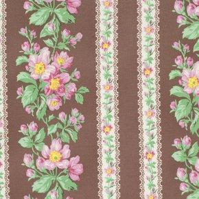 Snapshot - Blooming Border Stripe - Sepia