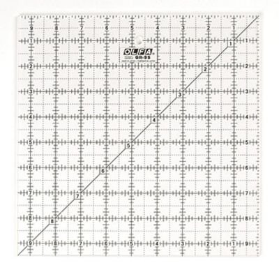9.5Y Square Frosted Ruler Olfa