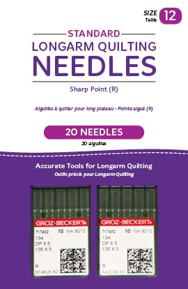 Standard Longarm Needles – Two Packages of 10 (12/80-R, Sharp)