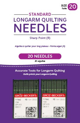 Standard Longarm Needles – Two Packages of 10 (20/125-R, Sharp)