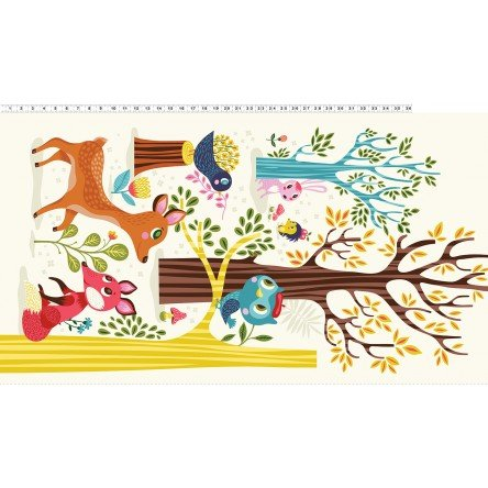 Forest Babes Panel Multi Color 2915-55