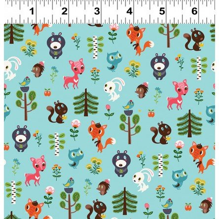 Forest Babes Baby Friends Light Teal 2917-103