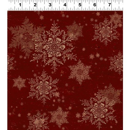Let Nature Sing Snowflakes Dark Red 2986-83