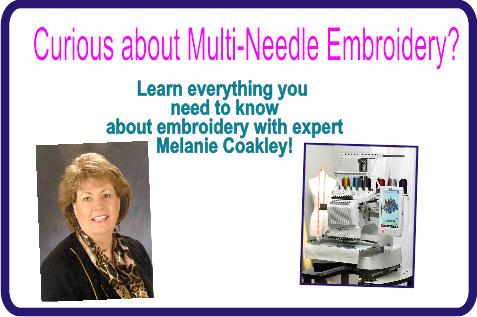 Melanie Coakley Multi-Needle Embroidery Event