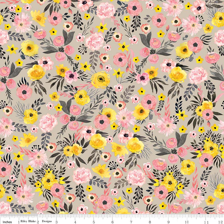 Taupe Petal Lane Floral *SALE*