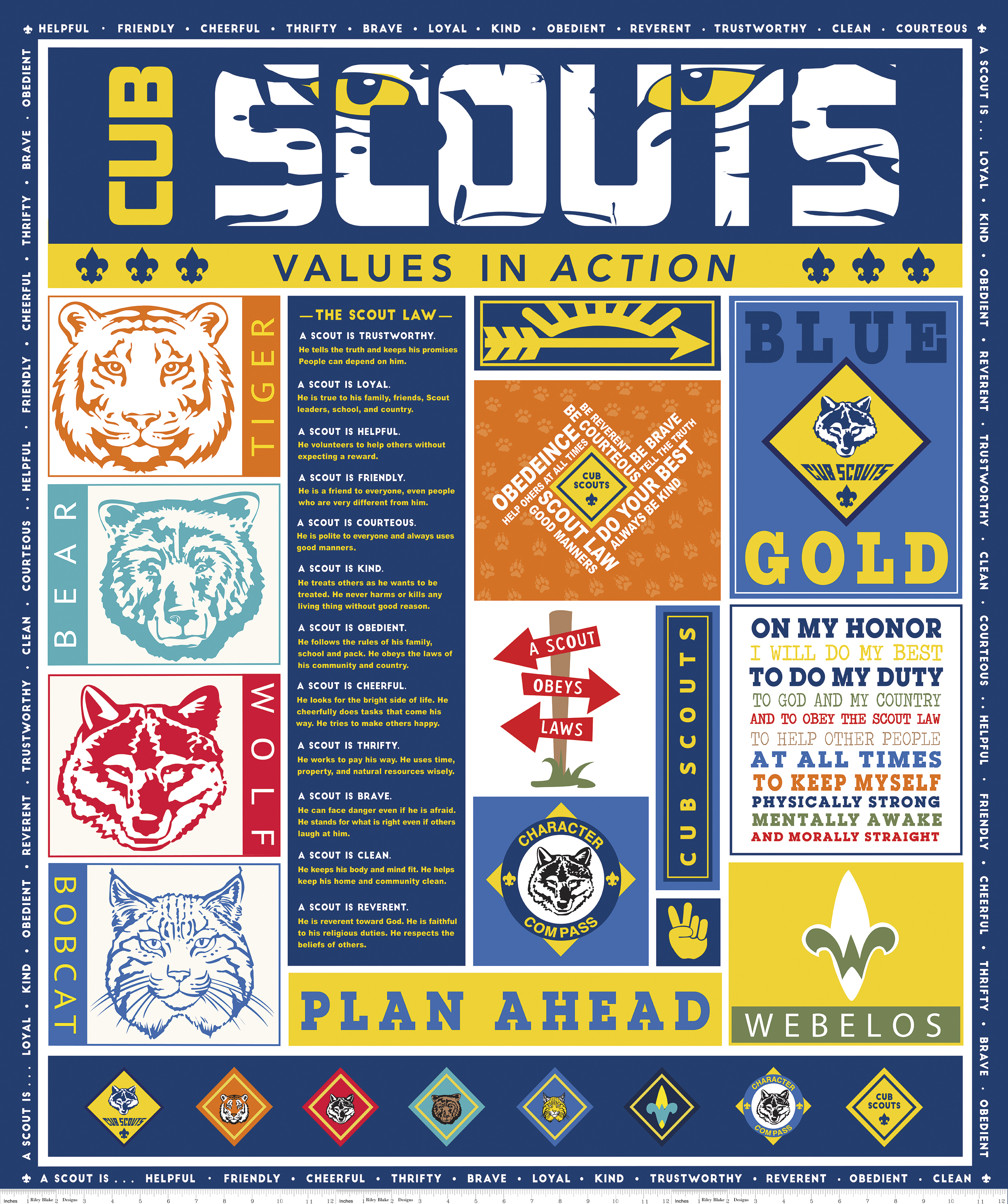 Navy Cub Scout Panel *Sale*