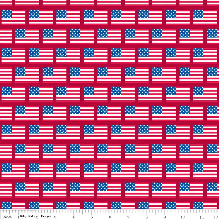 Red Patriotic Picnic Flags *SALE*