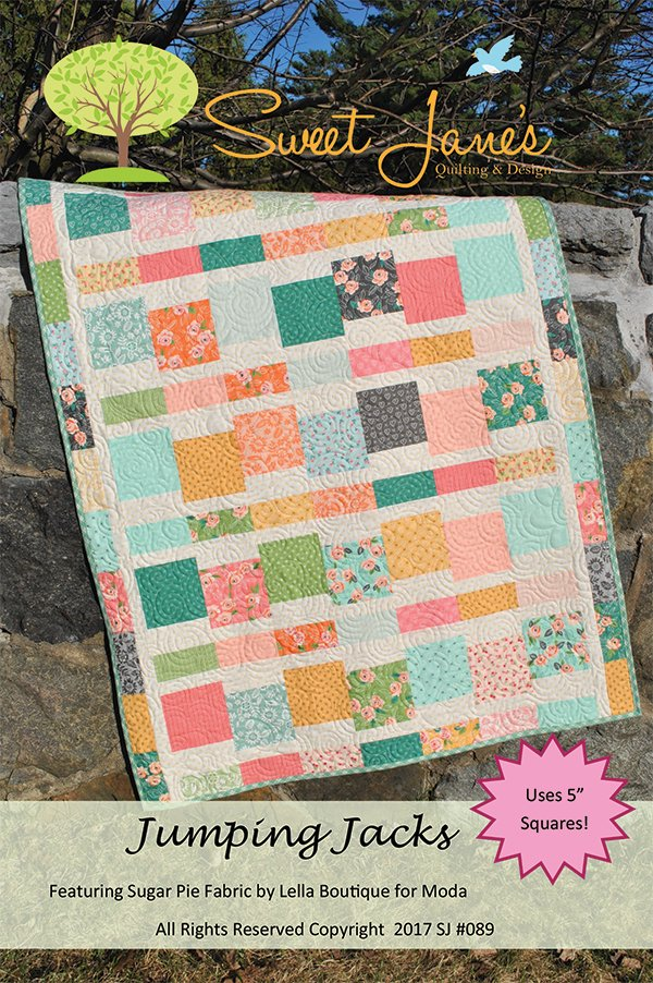 Jumping Jacks quilt pattern by Sweet Jane's SJ-089