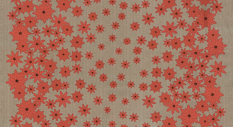 Winter's Lane Poinsettias Grey by Moda 13091-15