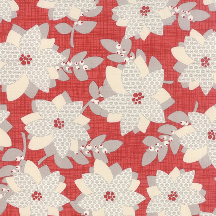 Winterberry Poinsettia Berry by Kate & Birdie for Moda 13140-13