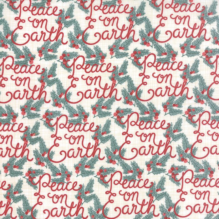Winterberry  Peace on Earth Snow by Kate & Birdie for Moda 13141-11