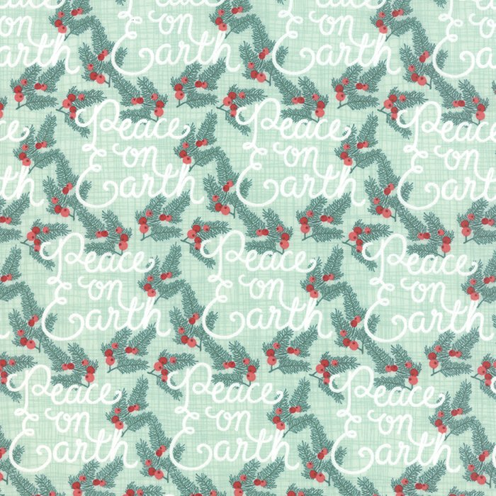 Winterberry  Peace On Earth Mint by Kate & Birdie for Moda 13141-12