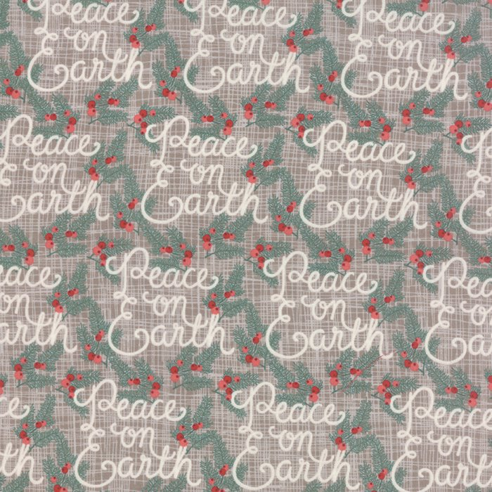 Winterberry  Peace On Earth Stone  by Kate & Birdie for Moda 13141-15