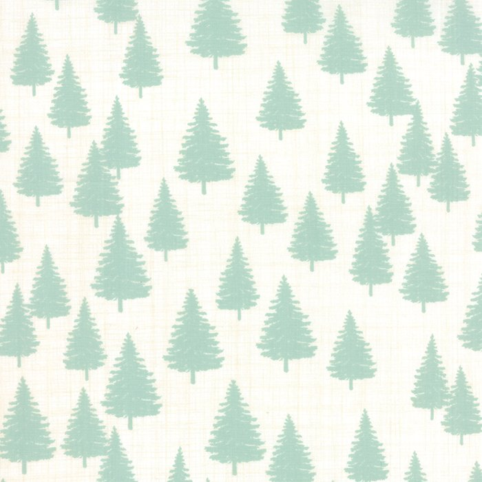 Winterberry Forest Snow Mint by Kate & Birdie for Moda 13143-12